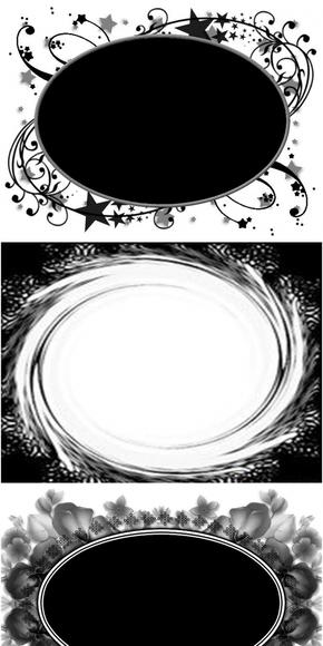 【图片分享计划】ps圆形花纹蒙版 黑白色圆形花纹相框素材
