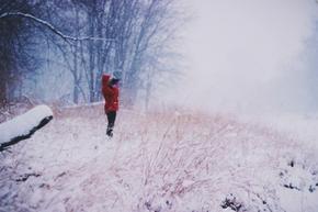 【图片分享计划】冬天雪红夹克