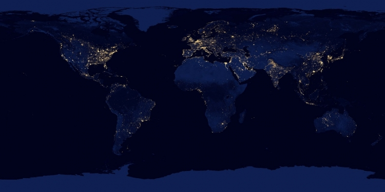 【图片分享计划】世界地图 夜景
