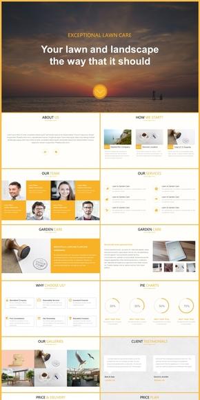 MUZI·简约活力黄色公司介绍模板