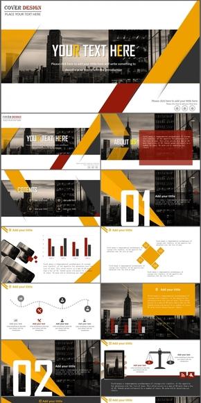 商务欧美都市杂志风工作汇报总结商业计划书公司介绍PPT模板