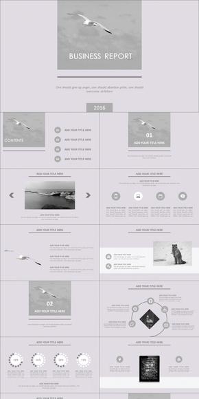 创意灰色空间商务动感模板(动静双套)