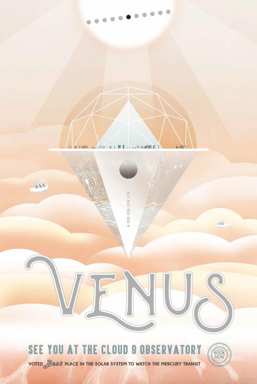 nasa发布最新太空旅游海报 满屏复古风席卷外星球