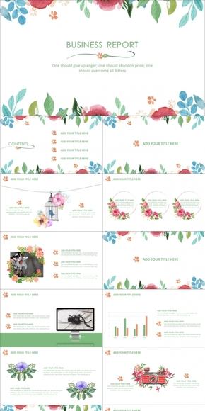 水彩花卉商务动感模板(至美静态)