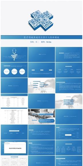 【不二誠品】醫療衛生領域-項目匯報與課題答辯模板