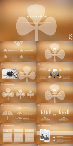 时尚IOS风商务动感模板(四套背景)