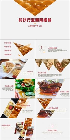 【PPT模板】餐饮行业通用模板