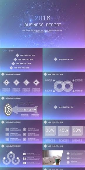 时尚IOS风商务计划总结模板(动静双套)