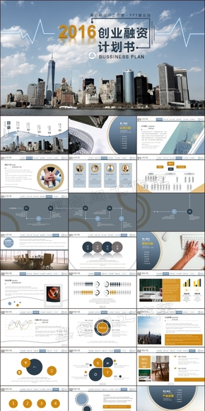 扁平化科技蓝欧美风创业计划书商业计划书创业融资企业公司介绍团队介绍