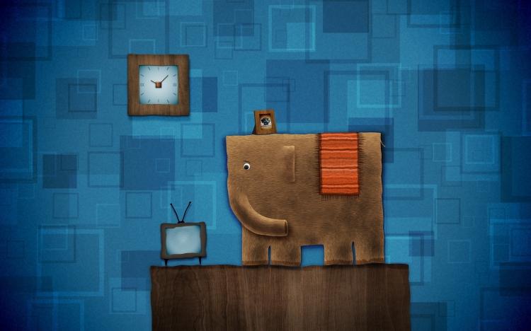 作品標題:【桌面壁紙】電腦設計藝術卡通色彩02