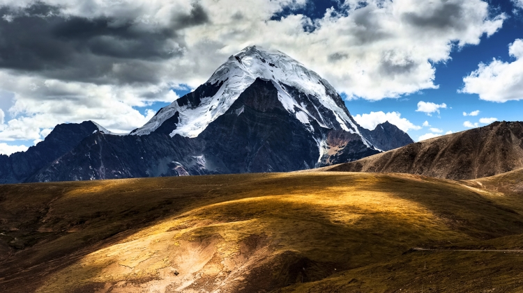 ppt模板 【桌面壁纸】西藏美丽风光高清04  作品标签: 西藏雪山风景