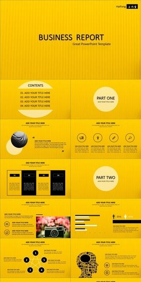 黄黑时尚商务动感模板(动静双套)