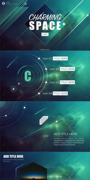 【动态】大气星空实用keynote模板