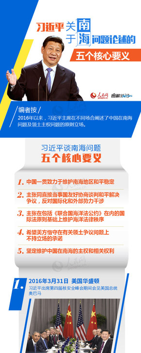 【演界信息图表】多彩商务-习近平关于南海问题论述的五个核心要义