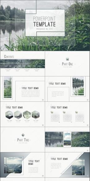 【Nature】绿色简约自然通用PPT模板