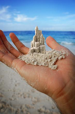【桌面壁纸】海边沙滩艺术