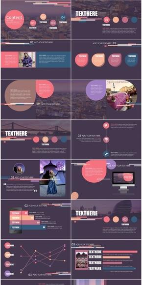 深邃红高端时尚商务模板-violet