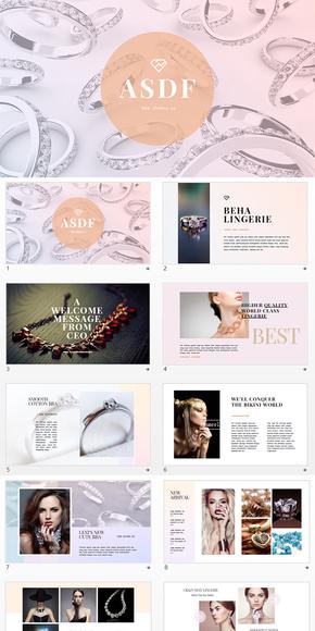 创意设计钻石珠宝营销策划PPT模板