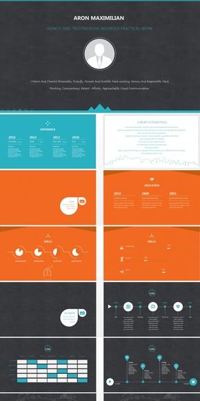 创意个人简介ppt模板_素材_背景图片免费下载–演界网