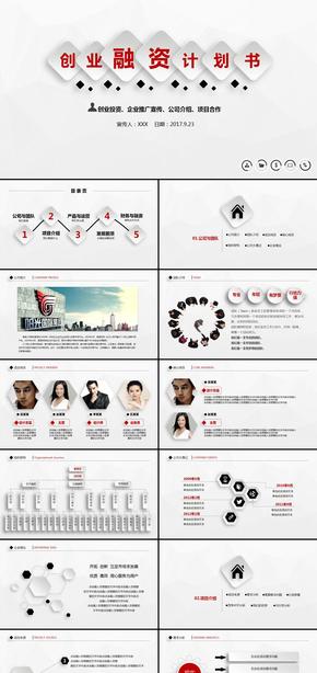 欧式简约风创业融资商业计划书公司宣传企业简介产品发布项目投资合作洽谈品牌宣传ppt模板