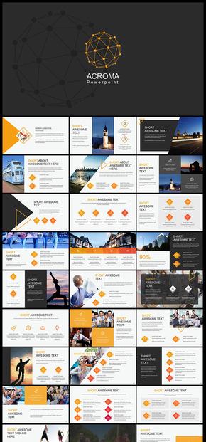 欧美风企业介绍商务汇报数据分析总结汇报计划总结年终总结新年计划商业计划创业融资等商务多用途PPT模板