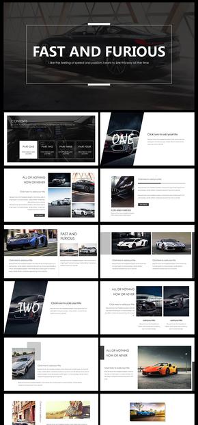 欧美大气杂志风企业宣传画册汽车宣传画册PPT模板