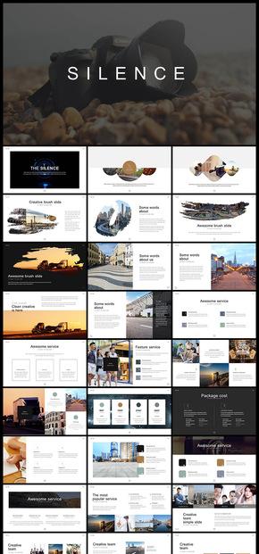欧美风杂志风简约风企业宣传画册PPT模板