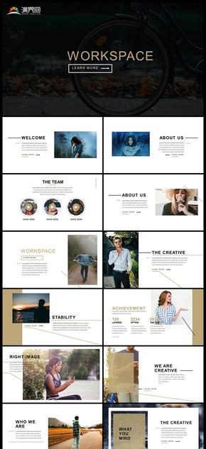 企业介绍团队介绍工作成功展示产品发布品牌宣传图片展示PPT模板