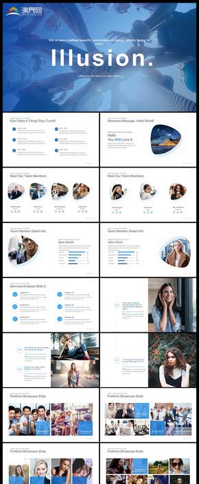 精致设计企业介绍团队介绍商务汇报工作汇报计划总结等商务多用途PPT模板