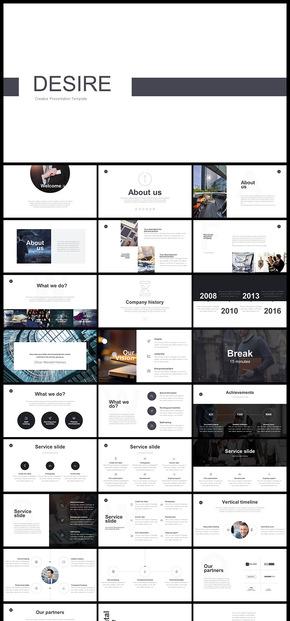 歐美風雜志風簡約風企業介紹企業宣傳商務匯報商務展示商業計劃PPT模板