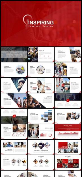歐美風簡約風商務風企業宣傳企業介紹商務匯報PPT模板5