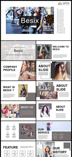 极简杂志风格图片展示企业介绍产品发布品牌宣传个人写真宣传画册电子相册等PPT模板