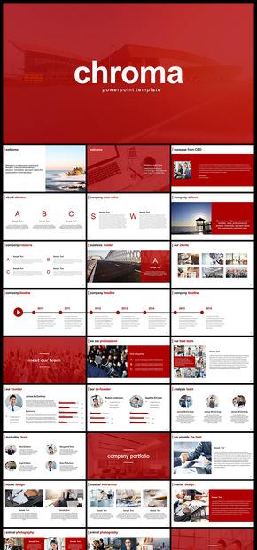 红色扁平化欧美风公司简介企业介绍商业计划创业计划工作汇报计划总结等商务多用途PPT模板