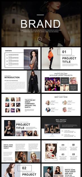 欧美风个性简约大气创新企业宣传画册产品宣传画册产品发布企业介绍商业汇报PPT模板