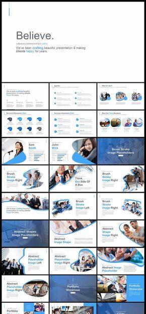【蓝色】欧美风扁平风商务风企业介绍公司简介商业计划创业计划产品发布品牌宣传工作汇报计划总结PPT模板