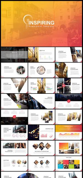 欧美风简约风商务风企业宣传企业介绍商务汇报PPT模板6