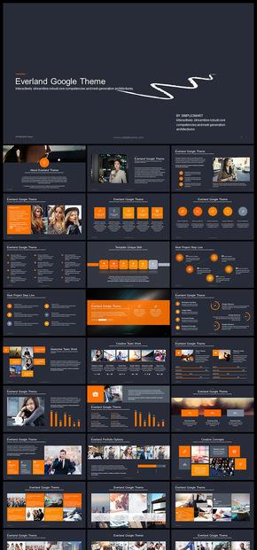 橙色系欧美风高端企业介绍企业宣传商业计划数据分析数据图表工作汇报计划总结商务汇报产品发布商务PPT