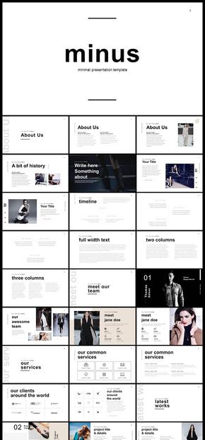 欧美个性时装企划产品宣传ppt模板