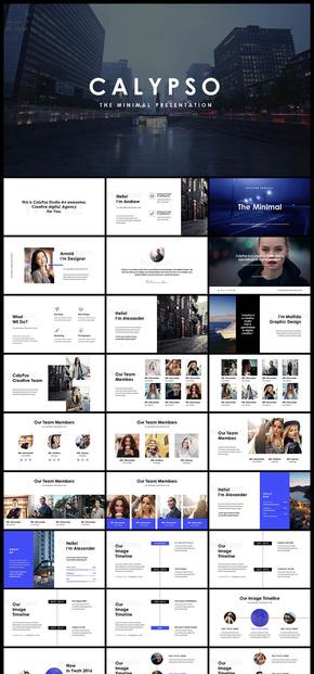 欧美风扁平化杂志风极简人物团队介绍企业宣传企业介绍品牌宣传产品发布商业创业计划金融团队广告PPT模板