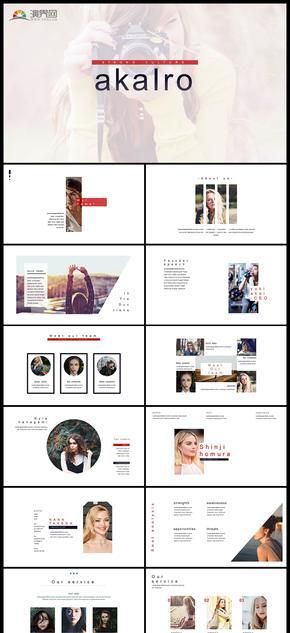 极简风产品展示产品发布品牌宣传企业介绍商务汇报PPT模板