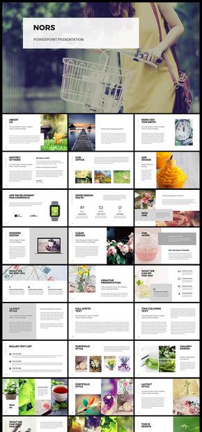 欧美简约文艺小清新图片展示企业介绍工作汇报计划总结数据分析产品发布品牌宣传PPT模板