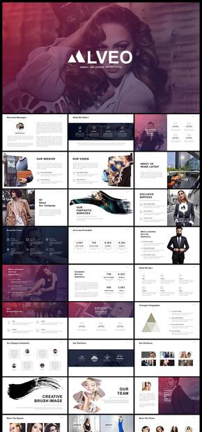 欧美风简约风个性时尚时装品牌宣传PPT模板
