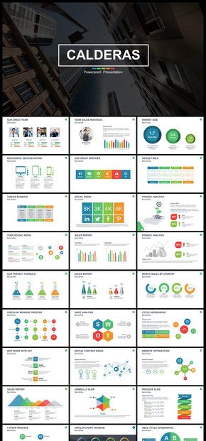 欧美风风多彩简约风企业介绍企业宣传商务汇报展示商业创业计划书等商务通用PPT模板