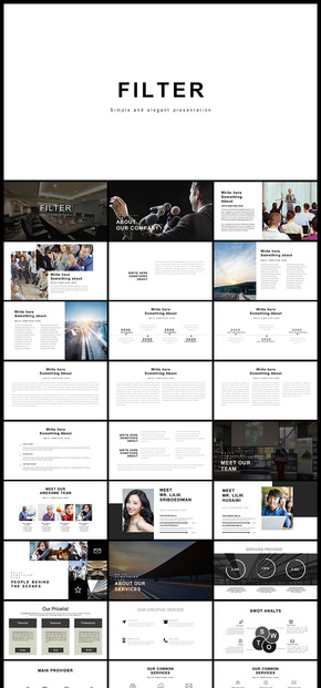 欧美风 简约风 黑白系 企业介绍企业宣传 商务汇报商务展示 计划总结 商业创业计划 多用途PPT模板