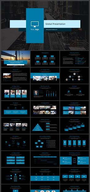 【蓝色】企业会议业务合作竞标提案PPT模板