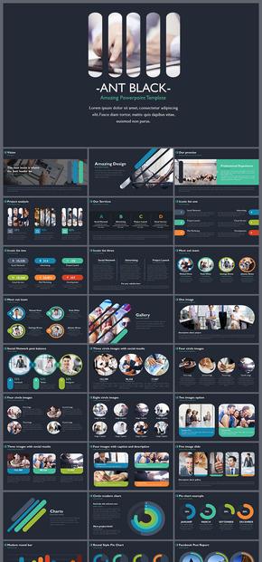 多彩创意动态商业计划书PPT模板