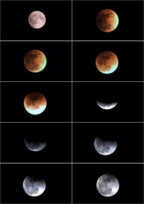 月全食图片整理
