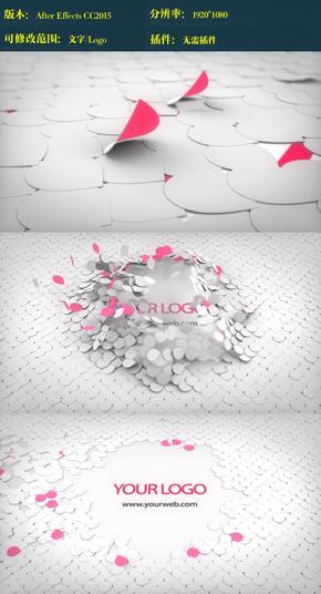 纸片飞舞演绎logo ae模板