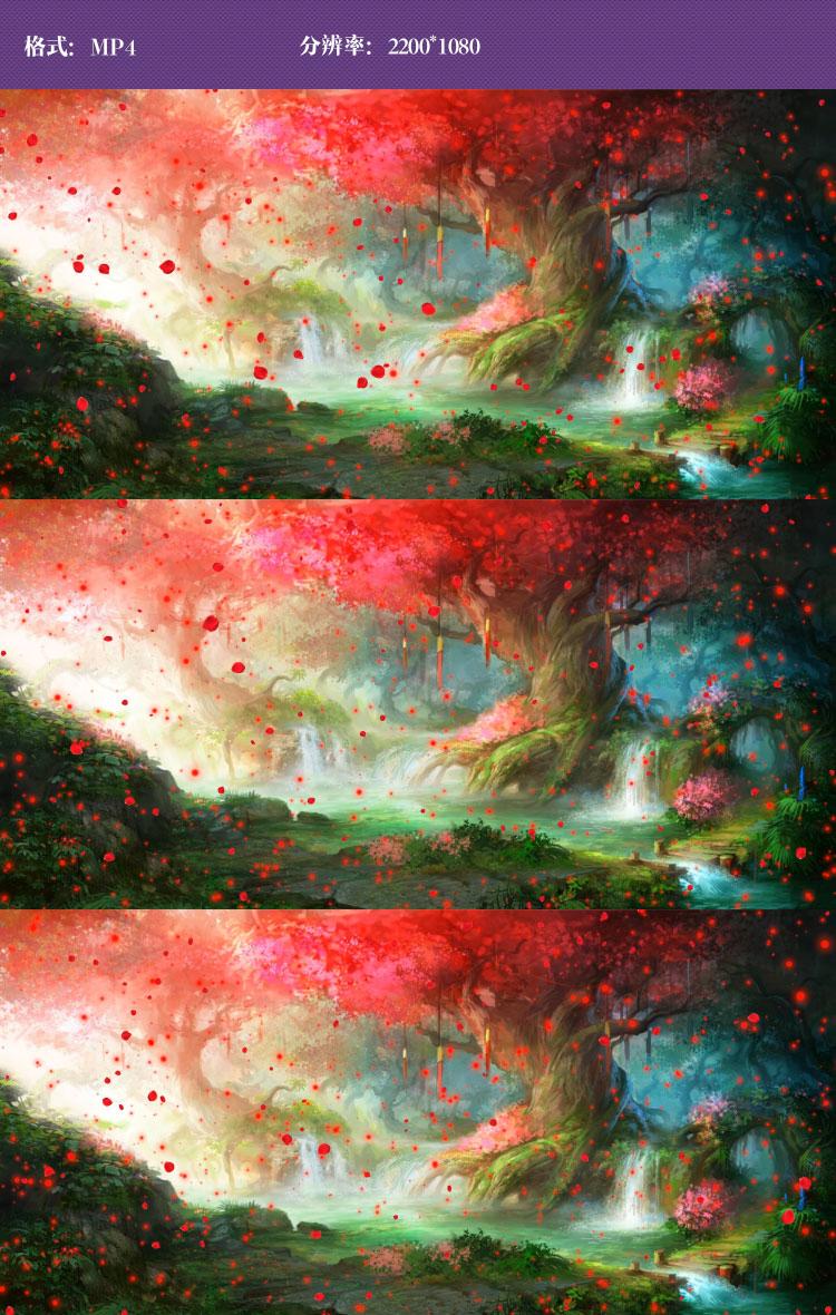 ae作品 黑白图片唯美简约 唯美森林花瓣飘落视频  作品标签: 卡通风视
