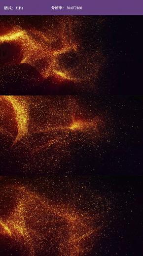 4k金色粒子飘散视频